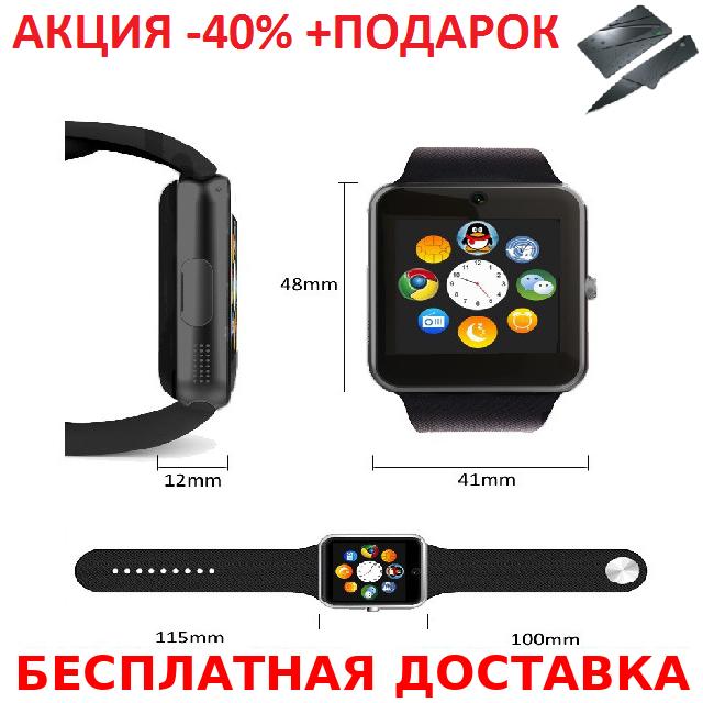 Умные часы смарт A1 Smart Watch GT08 Original size Smartwatch точная копия Apple Watch GSM Camera+Нож кредитка