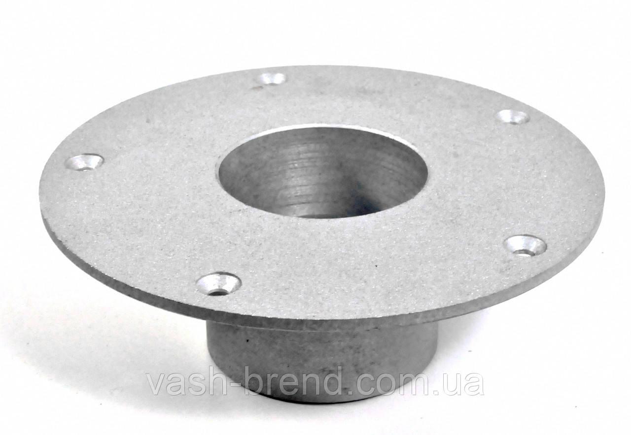 Основание для опоры стола алюминий 155мм