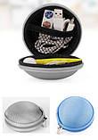 Чохол захисний для навушників і дрібних аксесуарів кулястий на блискавці БЛАКИТНИЙ SKU0000293, фото 8