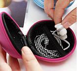 Чохол захисний для навушників і дрібних аксесуарів кулястий на блискавці БЛАКИТНИЙ SKU0000293, фото 10