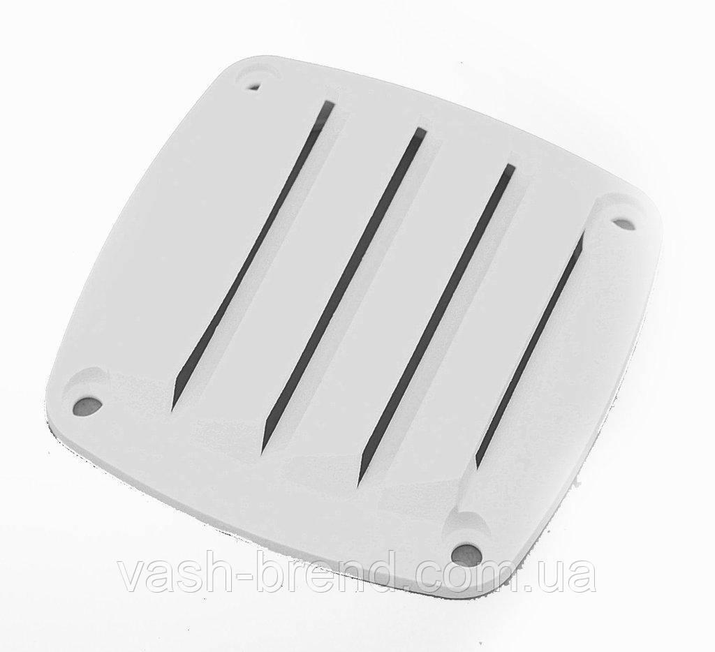 Решётка вентиляционная,белый пластик 76х76мм