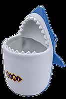 """Підставка Zibi """"Акула"""", для письмового приладдя, 110x100x135 мм, soft touch пластик (ZB.3006)"""