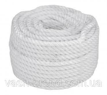 Веревка 30м 10мм белая, полиэстер, универсальная