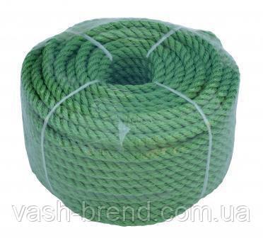 Веревка 30м 8мм зеленая, полиэстер, универсальная