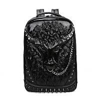 Черный рюкзак Бык, Рюкзаки женские, Чорний рюкзак Бик