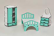 Мебель для кукольного домика Барби NestWood Спальня мятная (kmb005m), фото 3