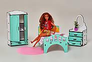 Мебель для кукольного домика Барби NestWood Спальня мятная (kmb005m), фото 2