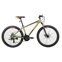 """Велосипед KINETIC 26"""" PROFI рама 13,5"""" хакі 2019"""
