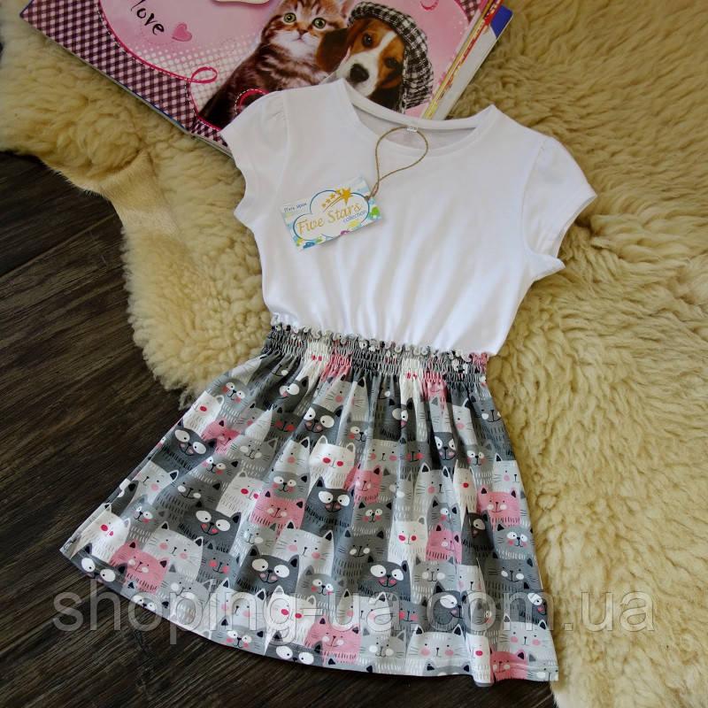 Платье для девочки котики Five Stars PD0239-116p