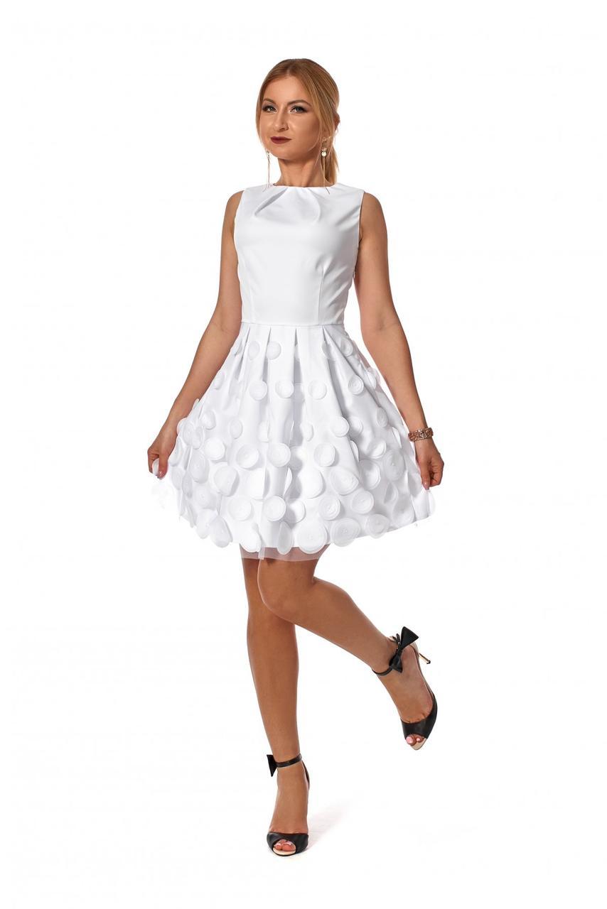 Платье нарядное 1168.3 цвет белый