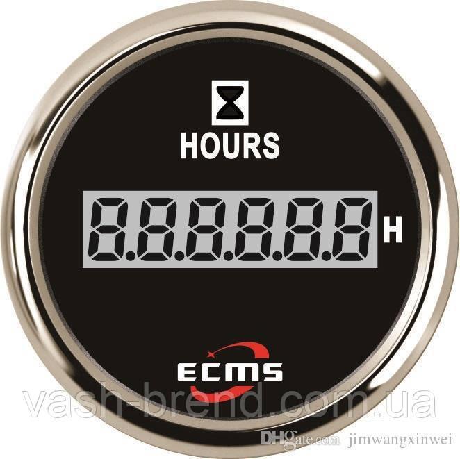 Счетчик моточасов ecms 52мм черный