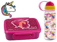 """Набор """"Magic unicorn (Единорог)"""".  Ланч бокс (ланчбокс) + бутылка"""