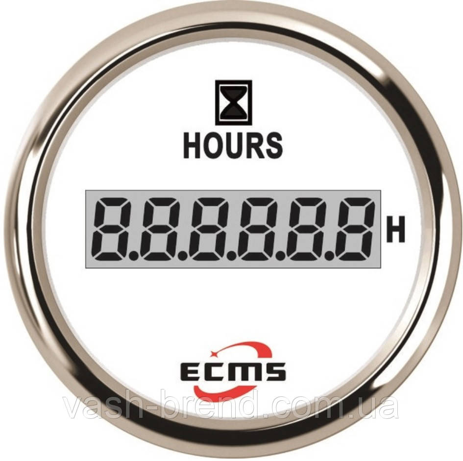 Лічильник мотогодин ecms 52мм білий