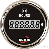 Цифровой счетчик моточасов ecms  не импульсный черный