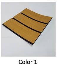 Eva искусcтвенный тик Color 1 темный тик, черная полоса 230cm x 90cm