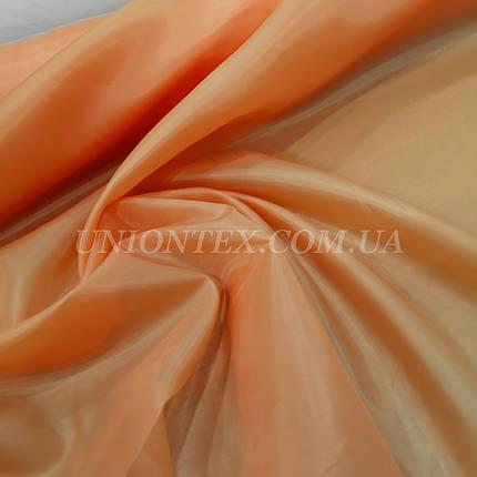Подкладочная ткань нейлон 170Т оранжевый, фото 2