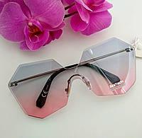 Солнцезащитные имиджевые градиентные прозрачные женские очки  (041)