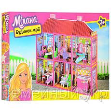 Кукольный домик. Размер 108х93х37 см. 6983 с мебелью, 2 этажа и 6 комнат, фото 2
