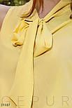 Модна шифонова блуза без рукавів жовта, фото 4