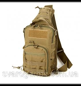 Тактична плечова сумка EDC M Coyote