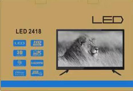 LED телевизор 2418, встроенный Т2, 24 дюйма