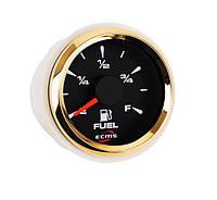 Датчик уровня топлива ECMS HMF2-BG-R, диаметр 52мм, рамка — золото, дисплей — черный  802-00003