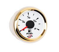 Датчик уровня топлива ECMS HMF2-WG-R диаметр 52мм, рамка — золото, дисплей — белый  802-00002