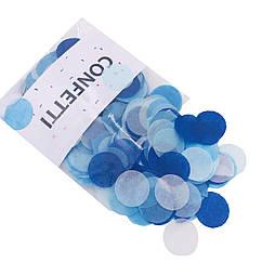 Конфетти кружочки для воздушных шаров 10 г блу микс