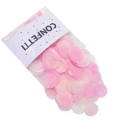 Конфетти кружочки для воздушных шаров 10 г лайт микс