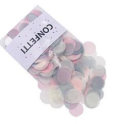 Конфетти кружочки для воздушных шаров 10 г пастель микс