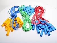 Скакалка, резина, 3 цвета, S0002