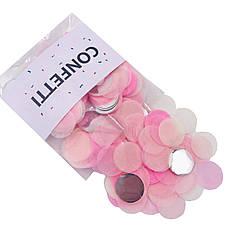 Конфетти кружочки для воздушных шаров 12 г лайт микс с серебром