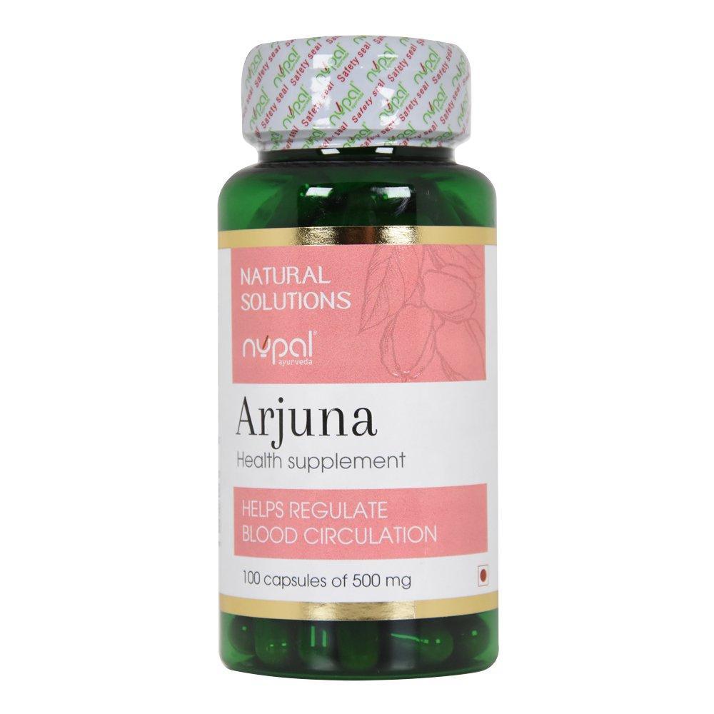 Арджуна (Arjuna Capsules, Nupal Remedies), 100 капсул - Аюрведа премиум. Нормализация сердечного ритма