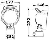 Прожектор світлодіодний 7х3w,12/24v, шарнірне кріплення, фото 2