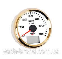 Тахометр ECMS HMH3-WG-6KL диаметр 85мм, рамка — золото, дисплей — белый 902-00012