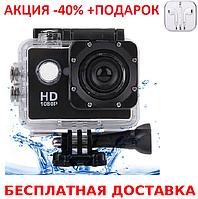 Экшн камера Original size Sports Cam FullHD 1080p 2' экран A7 + наушники iPhone 3.5
