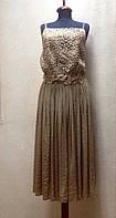 Платье-сарафан ажурное миди