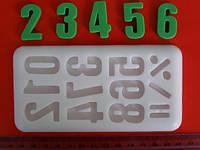 Молд для мастики цифры