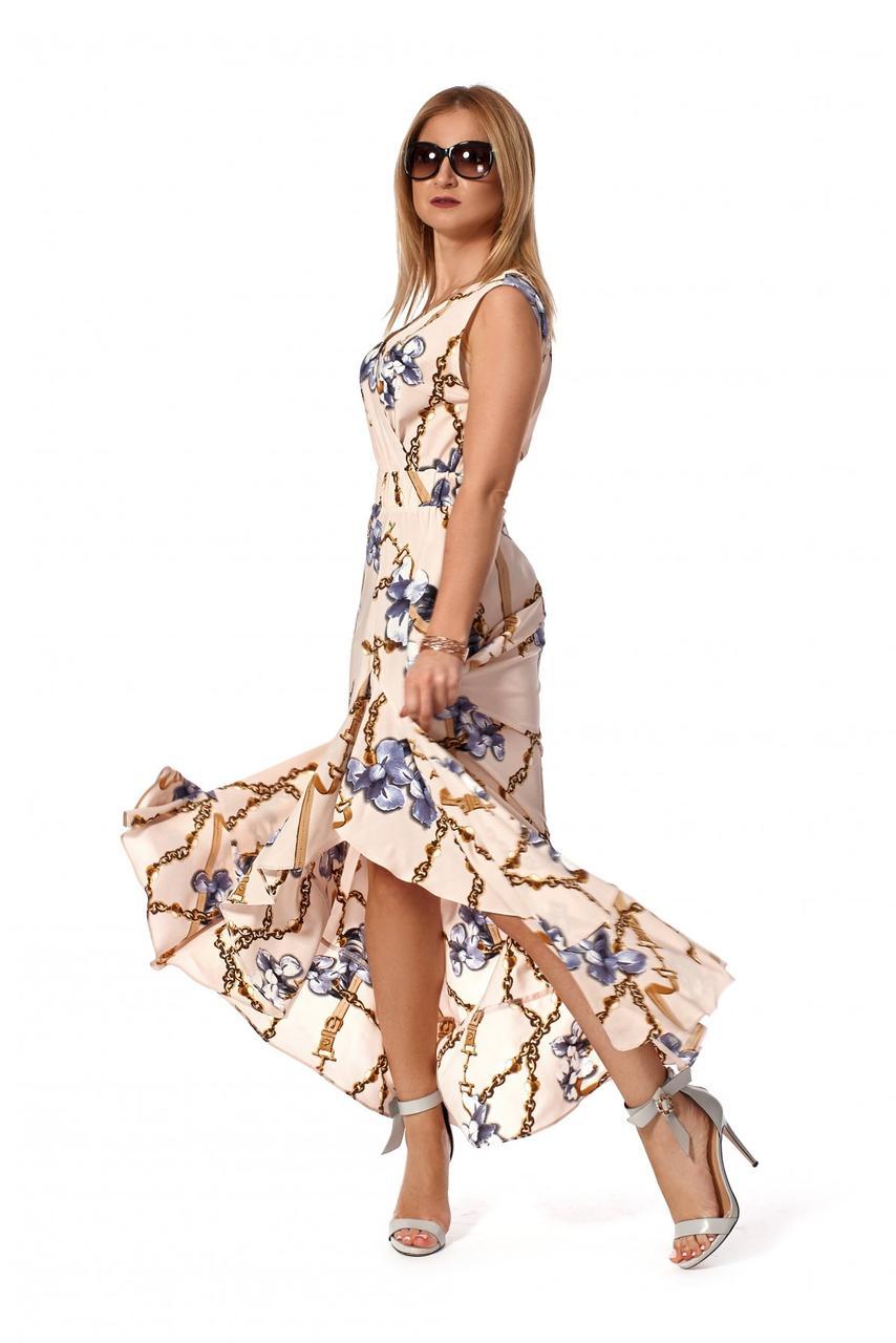 Платье летнее 1165.2 цвет пудровый
