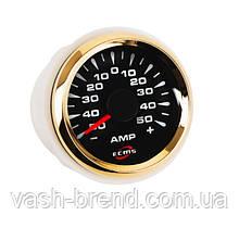 Амперметр ECMS HMA2-BG±80A диаметр 52мм, рамка — золото, дисплей — черный 802-00068
