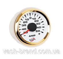 Амперметр ECMS HMA2-WG±80A диаметр 52мм, рамка — золото, дисплей — белый 802-00067