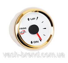 Датчик трима ECMS HMM2-WG-R, диаметр 52мм, рамка — золото, дисплей — белый 802-00057