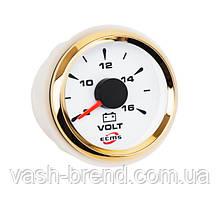 Вольтметр ECMS HMV2-WG-8-16 диаметр 52мм, рамка — золото, дисплей — белый 802-00042