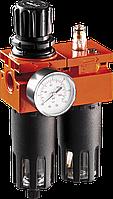 """Фильтр 12-584 Neo для сжатого воздуха под резьбу 1/2"""" с редуктором и манометром двойной"""