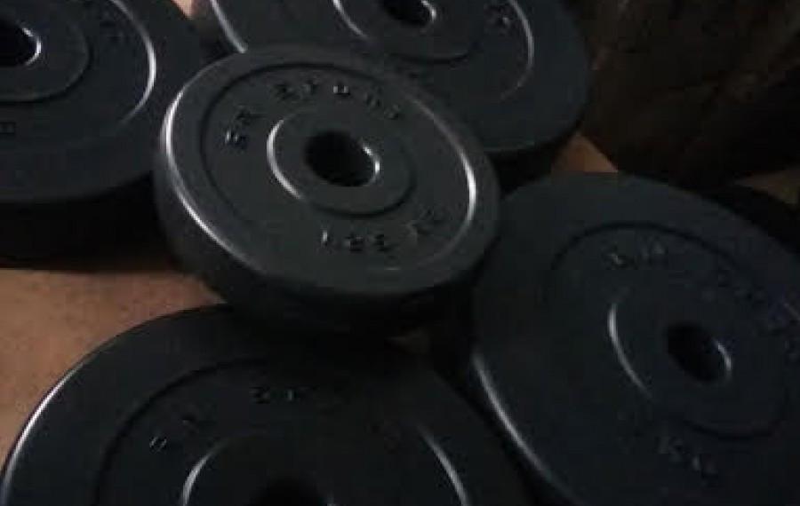 Диск с пластиковым покрытием 10 кг - 30 мм (уценка)!