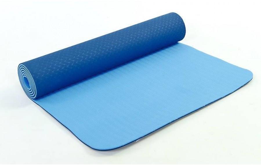 Коврик для фитнеса Yoga mat 6 мм синий