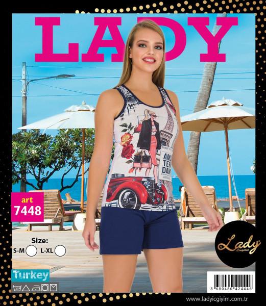 Футболка с шортами LADY LINGERIE 7448
