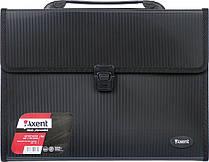 Портфель Axent А4 3 отд. пластиковый замок черный 1601-01-A