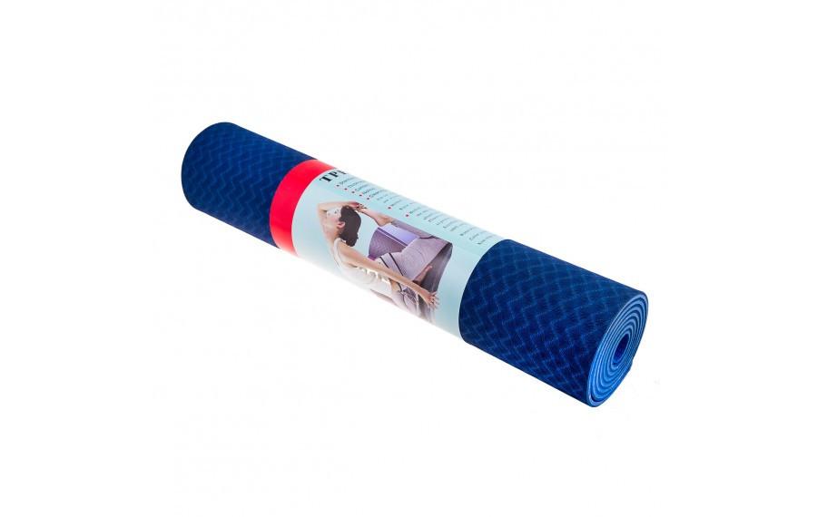 Коврик для фитнеса Yoga mat 6мм (JPE) синий