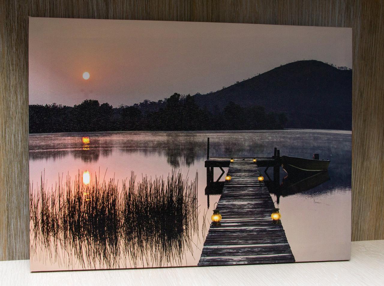 Светящаяся картина пейзаж со светящимися элементами, 30х40 см (940119)